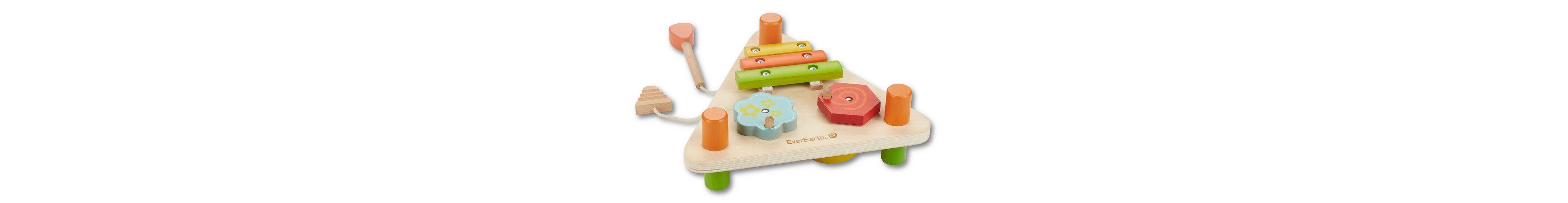 EverEarth® Holzspielzeug, »2-seitiges Musikdreieck«