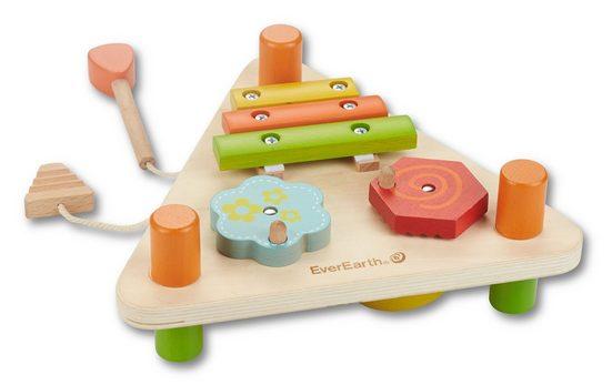 EverEarth® Spielzeug-Musikinstrument »2-seitiges Musikdreieck«, FSC®-Holz aus gewissenhaft bewirtschafteten Wäldern