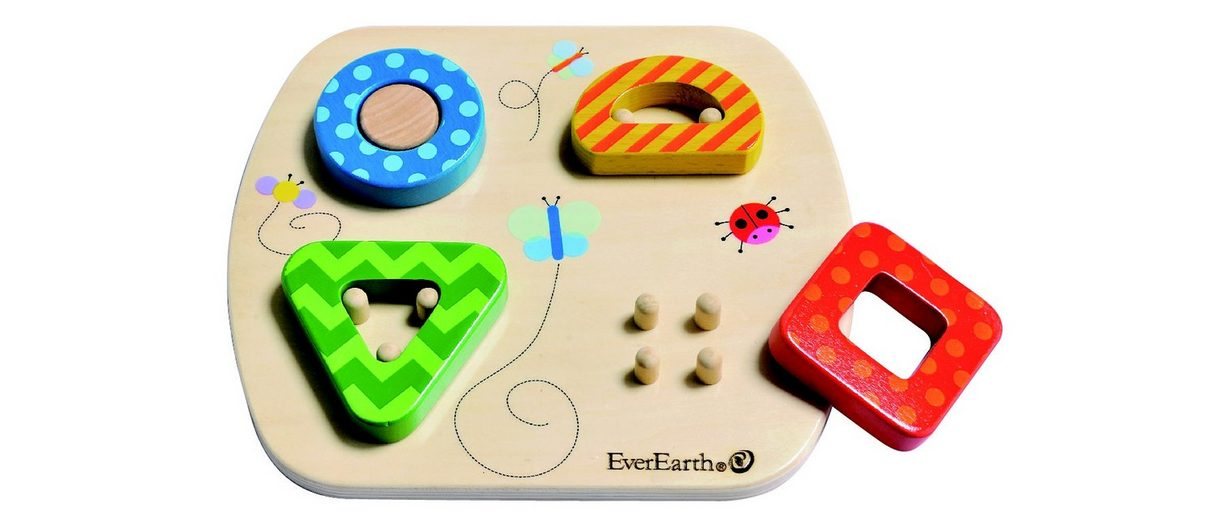 EverEarth® Steckpuzzle aus Holz, »Holzpuzzle Wald«