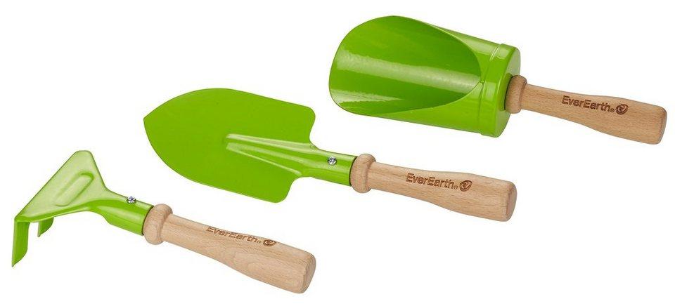EverEarth® Gartenspiel-Set aus Holz, »3-teiliges Hand-Gartengeräteset«