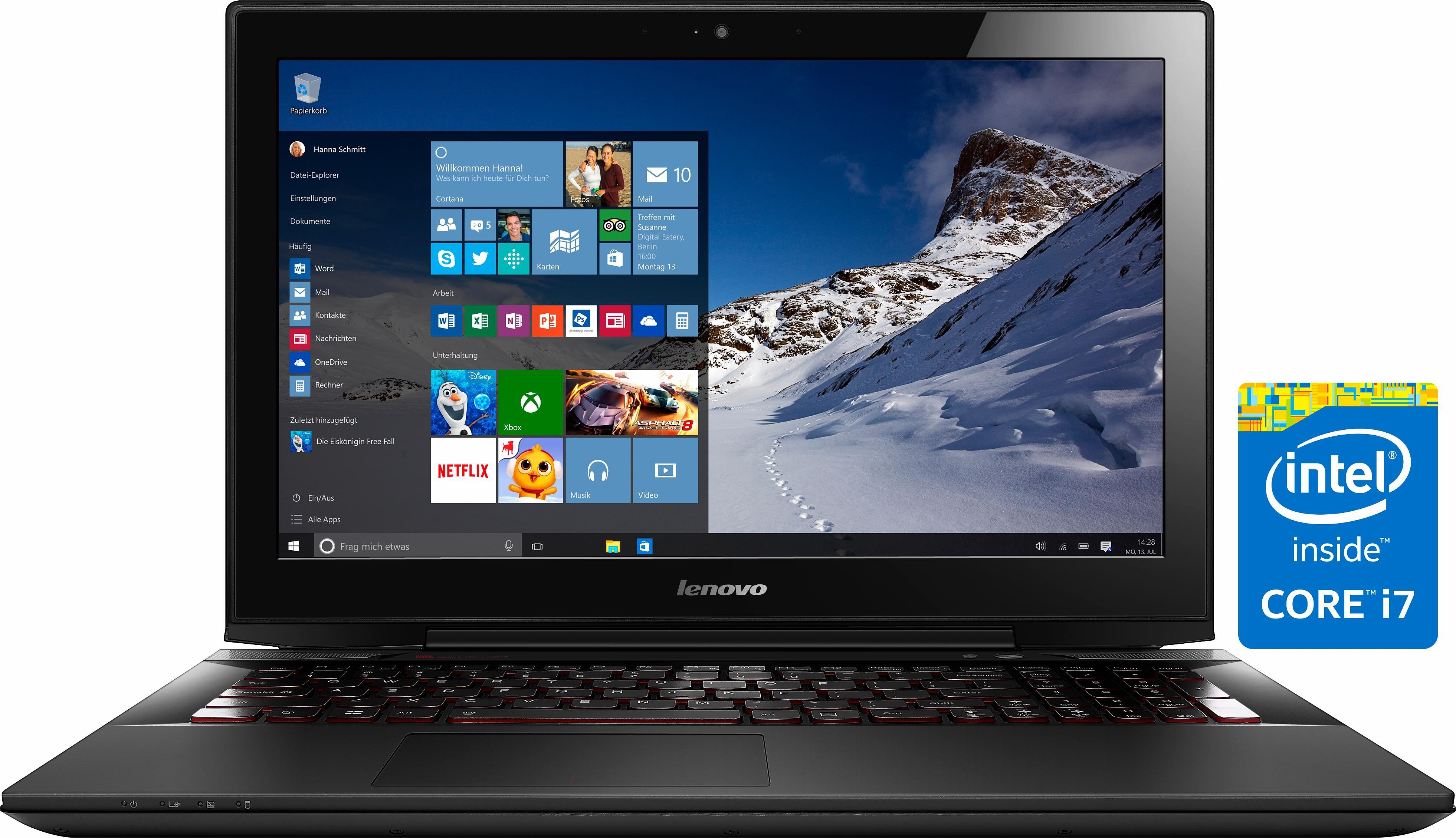 Lenovo Y50-70 Notebook, Intel® Core™ i7, 36,6 cm (15,6 Zoll), 256 GB Speicher, 16384 MB DDR3-RAM