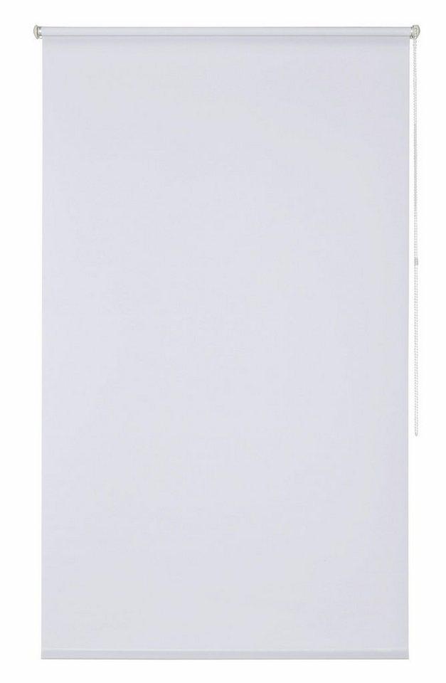 Klemmfix-Seitenzugrollo im Fixmaß, My Home, »Themse-Uni« (1 Stück), Lichtschutz in weiß
