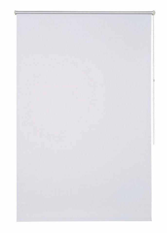 Klemmfix-Seitenzugrollo im Fixmaß, My Home, »Themse-Uni« (1 Stück), Verdunkelung/Energiesparend in weiß