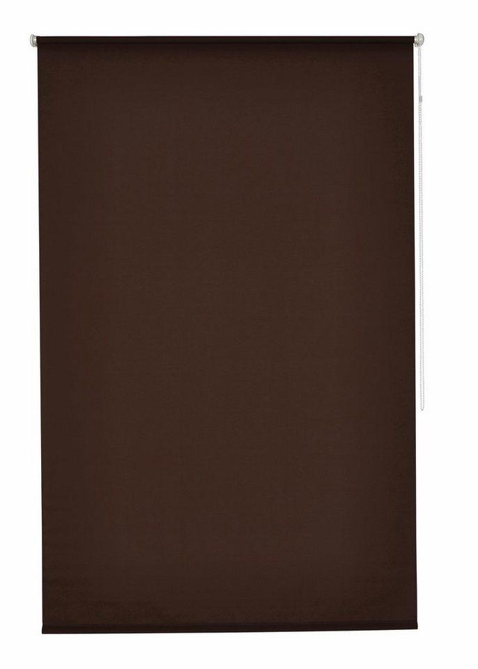 Klemmfix-Seitenzugrollo im Fixmaß, My Home, »Themse-Uni« (1 Stück), Lichtschutz in mokka
