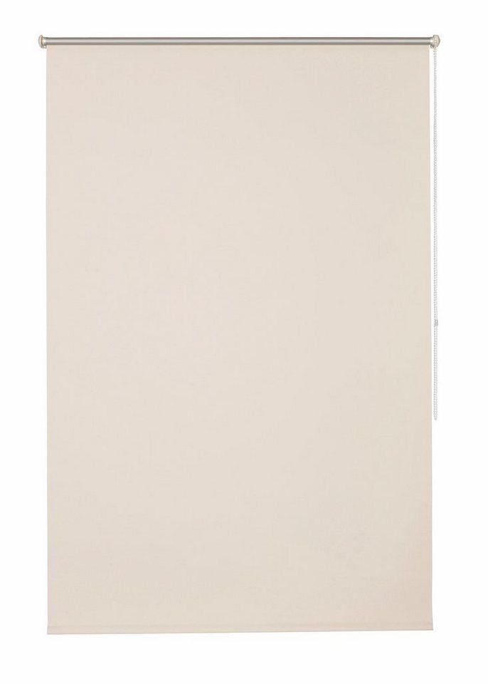 Klemmfix-Seitenzugrollo im Fixmaß, My Home, »Themse-Uni« (1 Stück), Verdunkelung/Energiesparend in sand