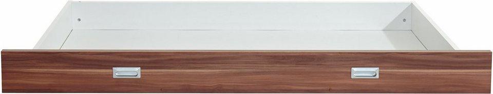 Breckle Bettschubkasten in nussbaumfarben