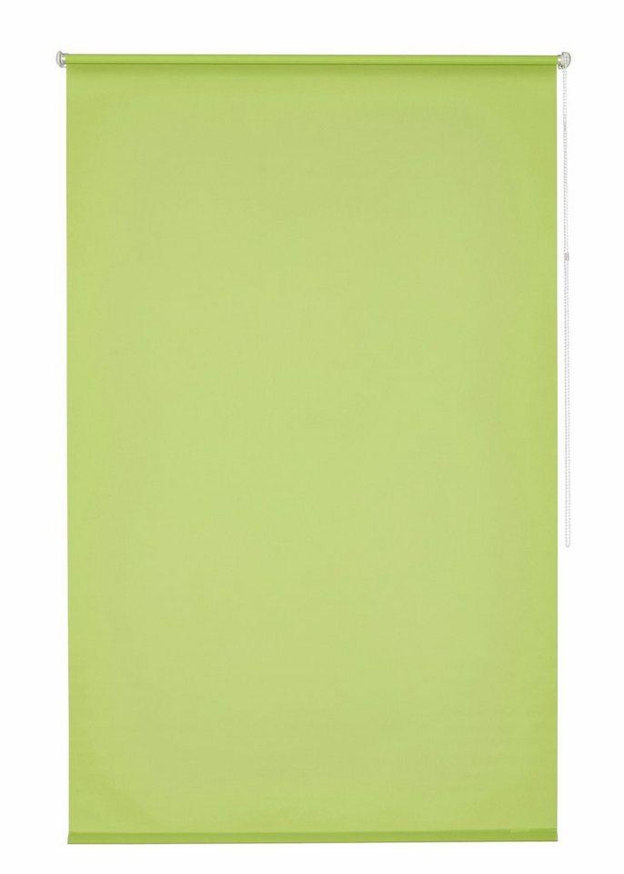Klemmfix-Seitenzugrollo, my home, »Tomar«, im Fixmaß, ohne Bohren, Lichtschutz (1 Stück) in apfel-grün