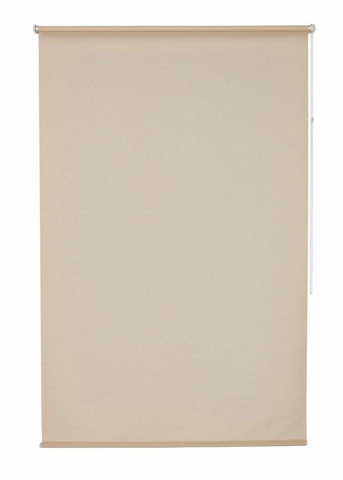 Klemmfix-Seitenzugrollo, my home, »Tomar«, im Fixmaß, ohne Bohren, Lichtschutz (1 Stück) in beige