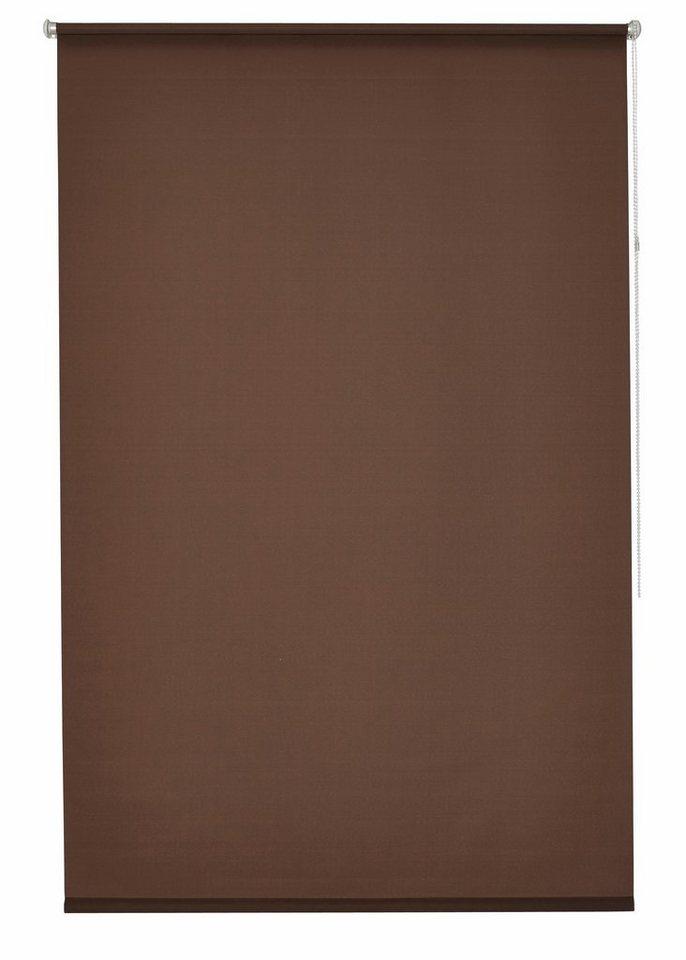 Klemmfix-Seitenzugrollo, my home, »Tomar«, im Fixmaß, ohne Bohren, Lichtschutz (1 Stück) in schoko