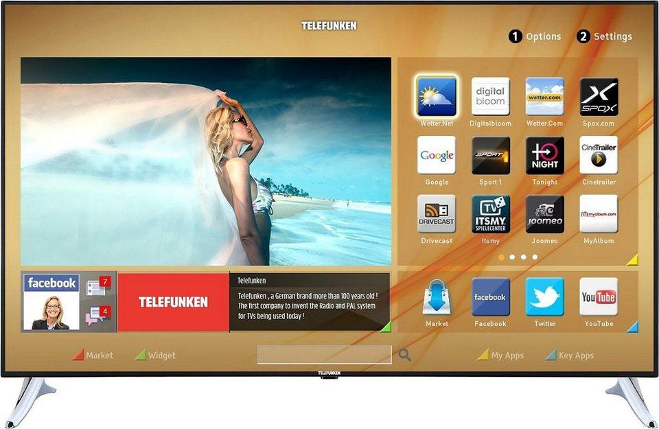 Telefunken L65F243M3C, LED Fernseher, 165 cm (65 Zoll), 1080p (Full HD), Smart-TV in schwarz