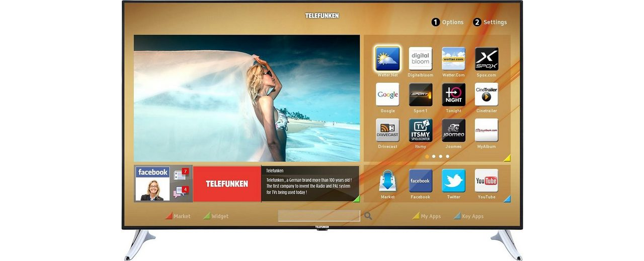 Telefunken L65F243M3C, LED Fernseher, 165 cm (65 Zoll), 1080p (Full HD), Smart-TV
