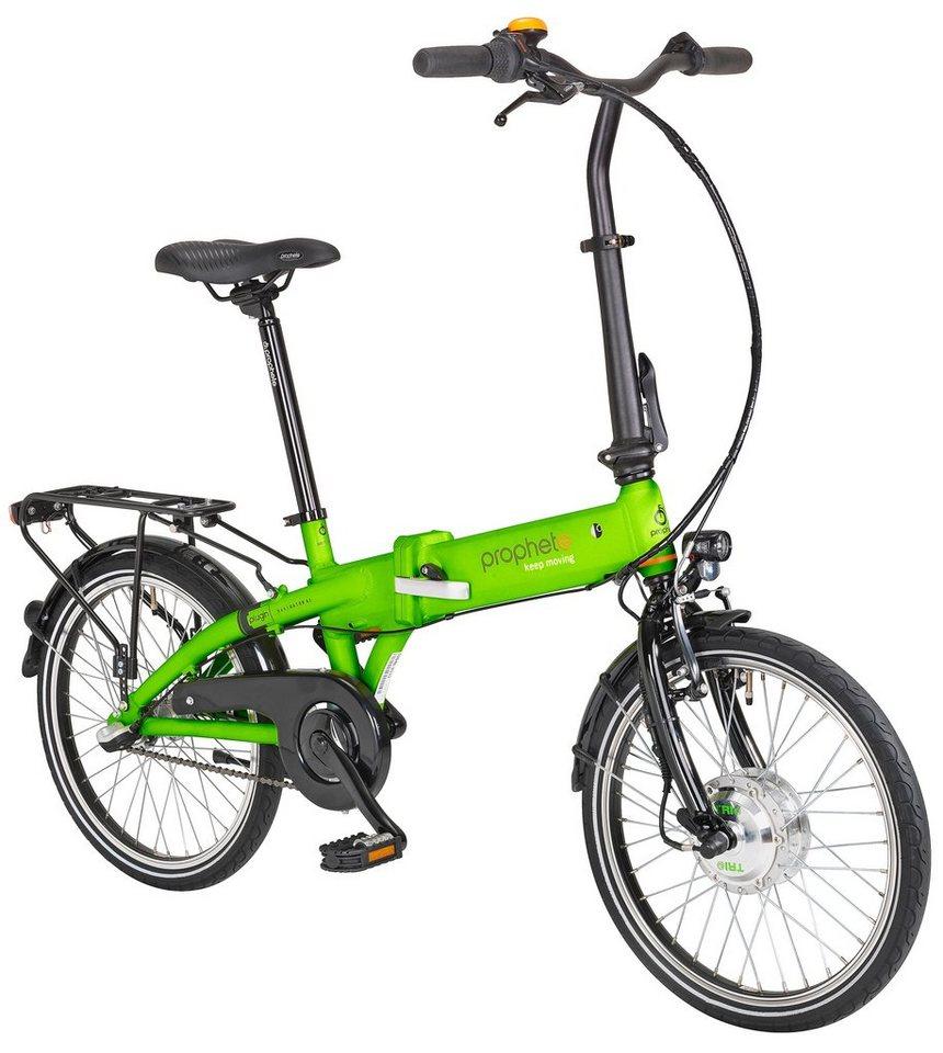 E-Bike Klapprad »NAVIGATOR 6.1«, 20 Zoll, 3 Gang, Frontmotor, 241 Wh in gelb