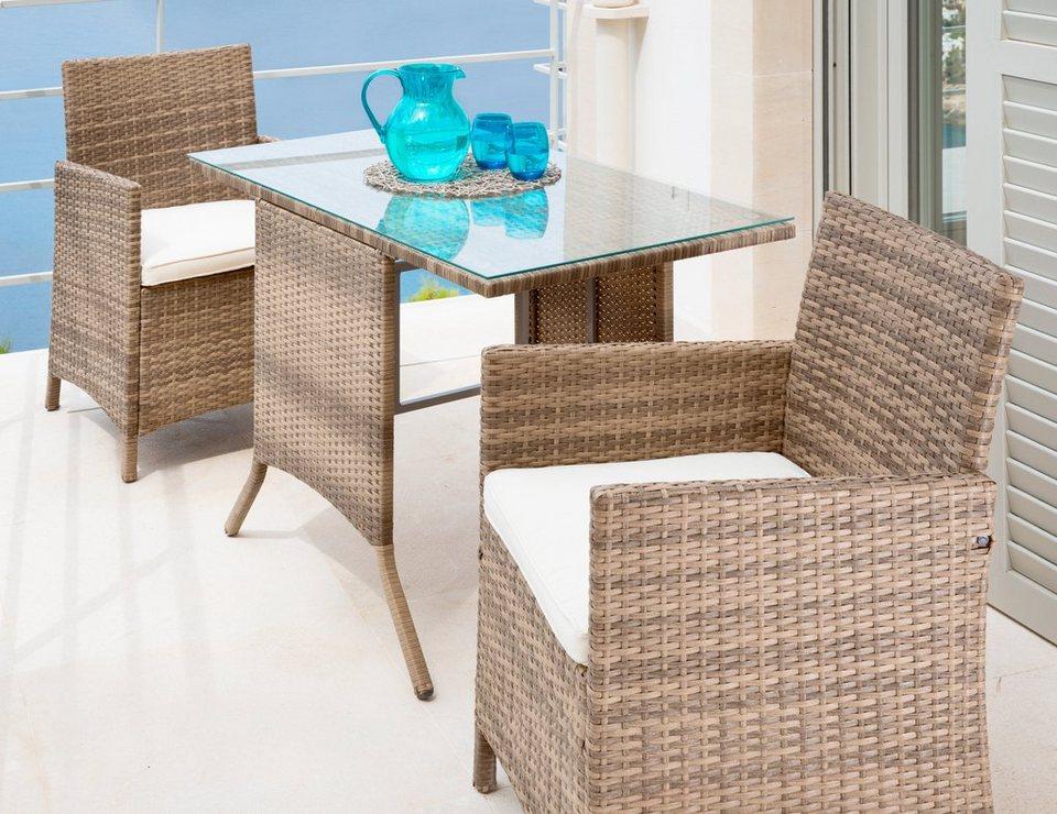MERXX Gartenmöbelset Treviso 5 tlg 2 Sessel Tisch
