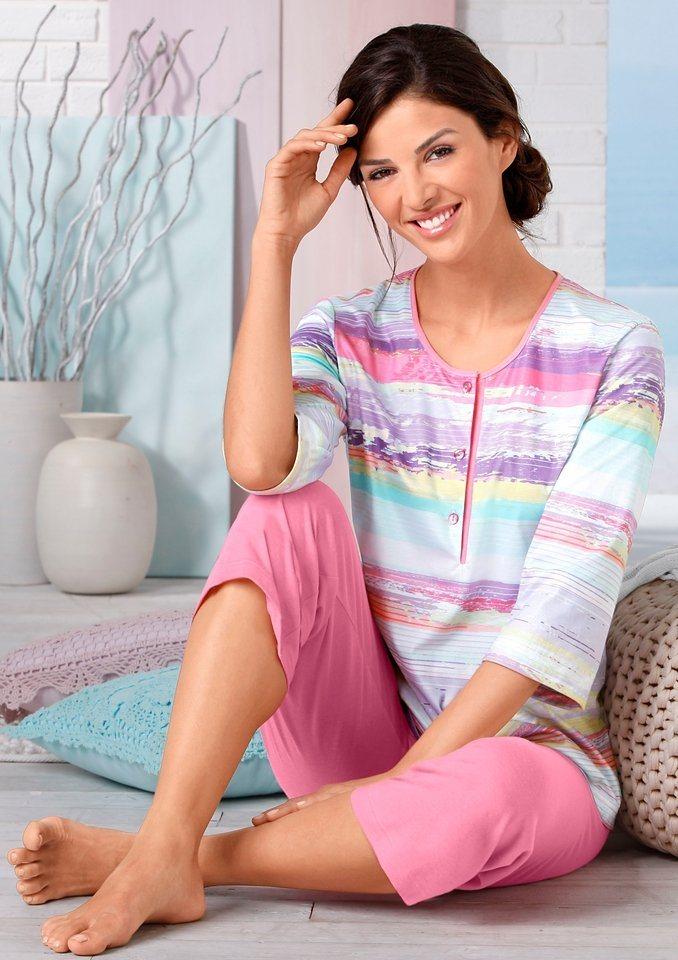 Schlafanzug, Ascafa in koralle-bedruckt