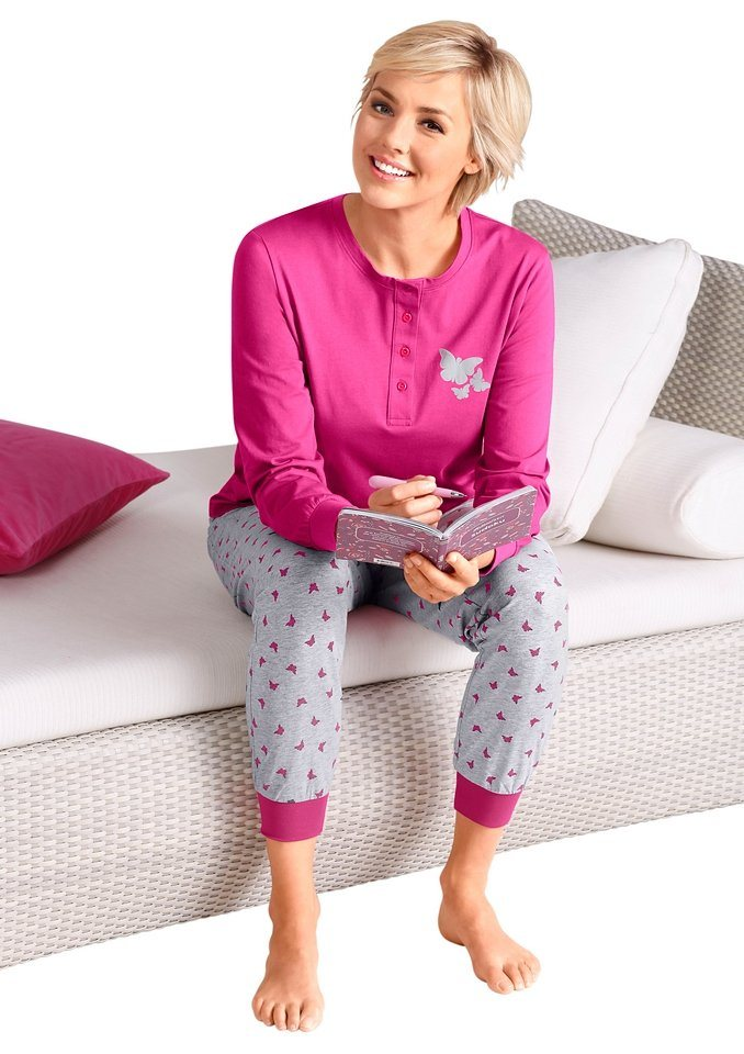 Schlafanzug, Rosalie in pink-grau