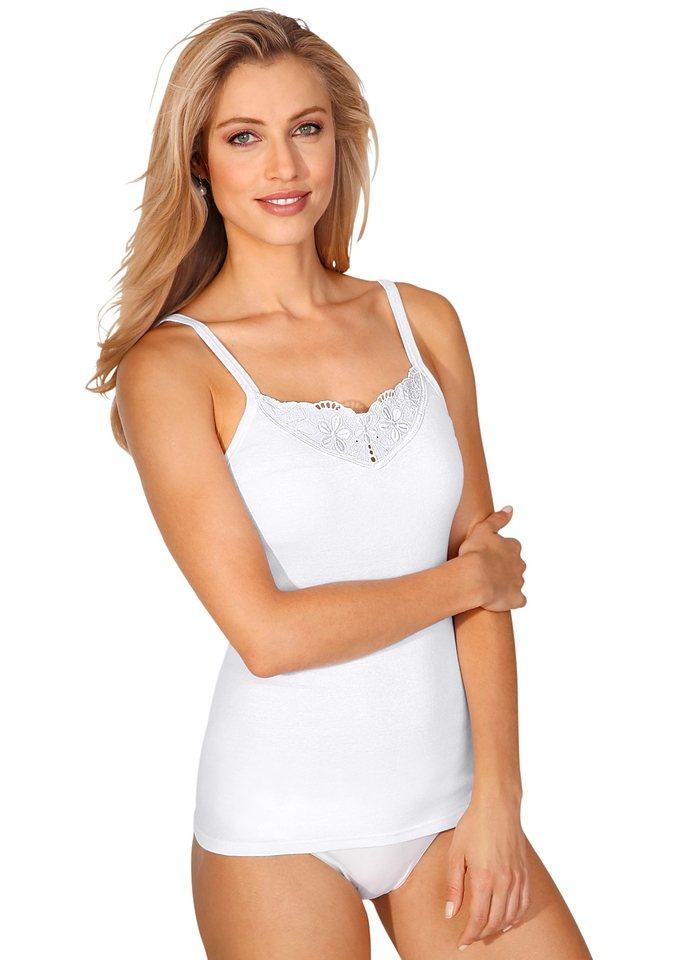 Trägerhemd, Schöller in weiß