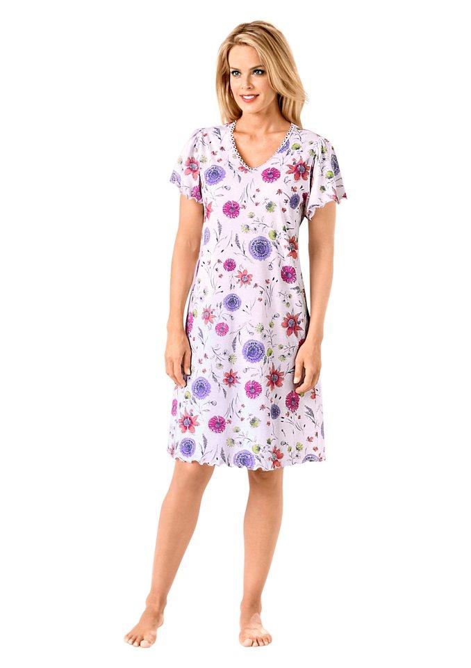 Nachthemd, Arabella in rosé-bedruckt