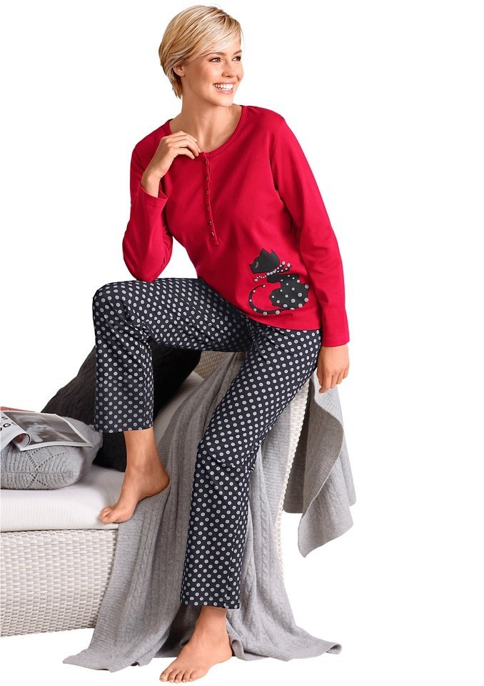 Schlafanzug in rot
