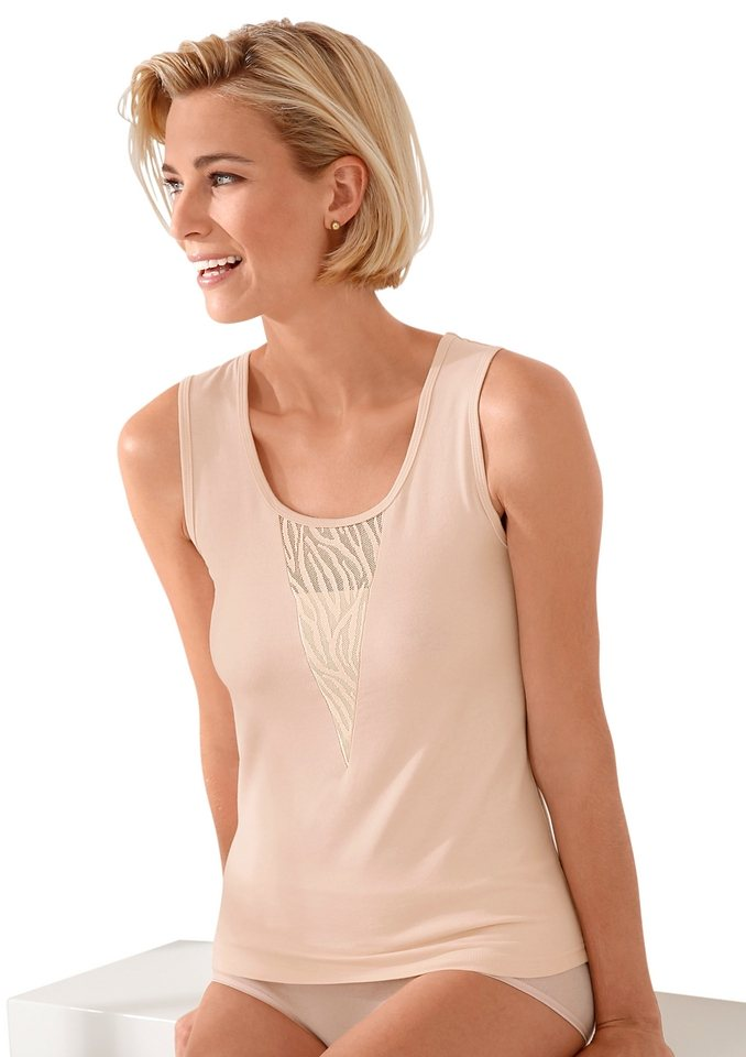 Achseltop, Rosalie in apricot