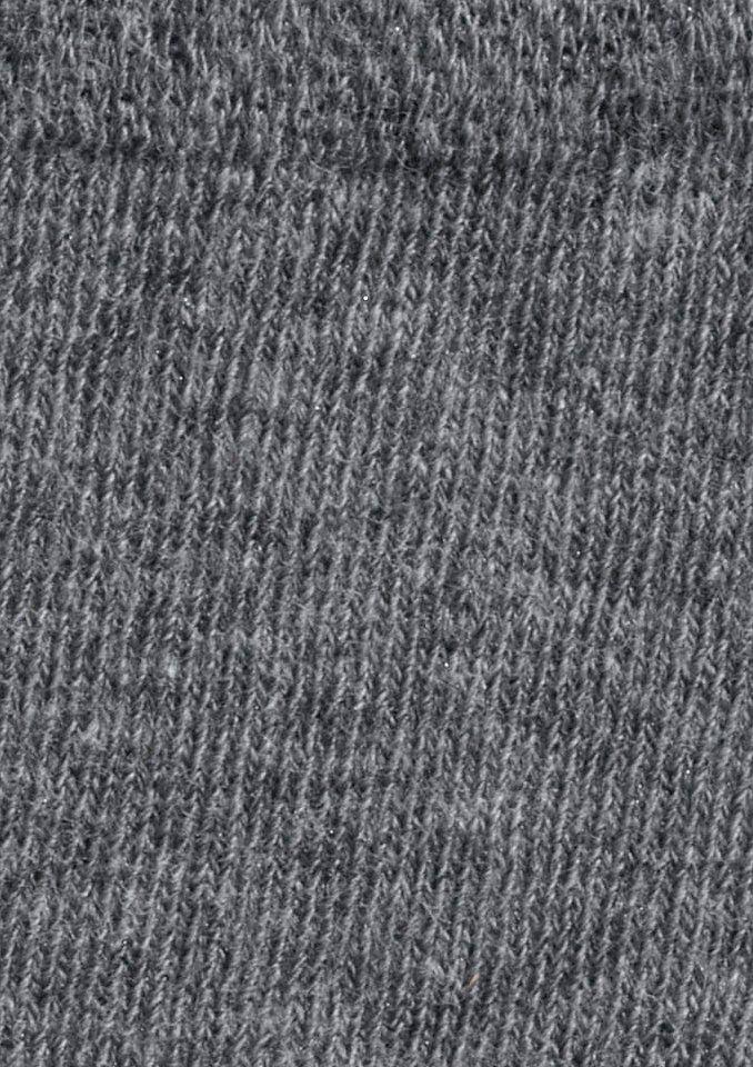Socken in anthrazit-meliert