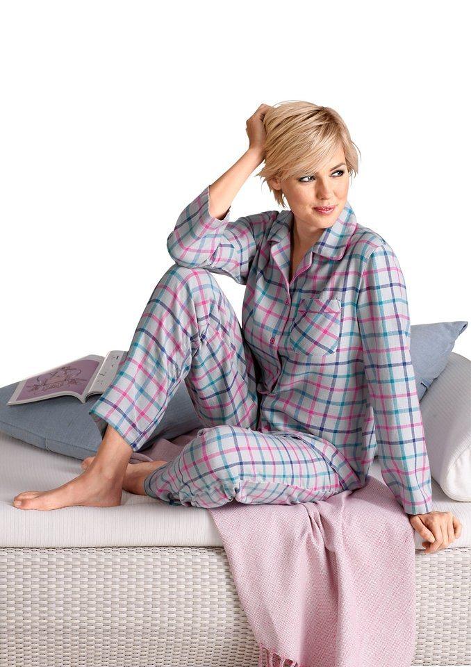 Pyjama, Rosalie in grau-kariert