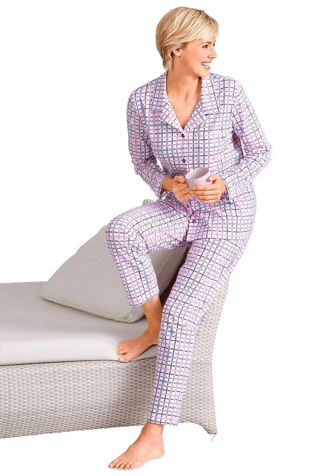 Pyjama, Rosalie in ecru-kariert