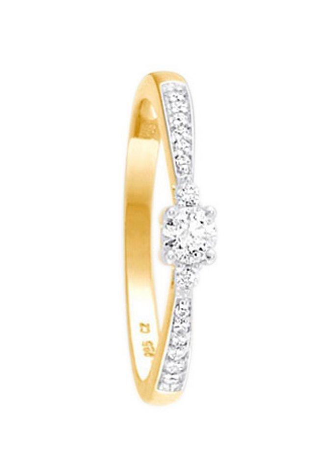 firetti Ring: Verlobungsring / Vorsteckring, Gelbgold in Gelbgold 333