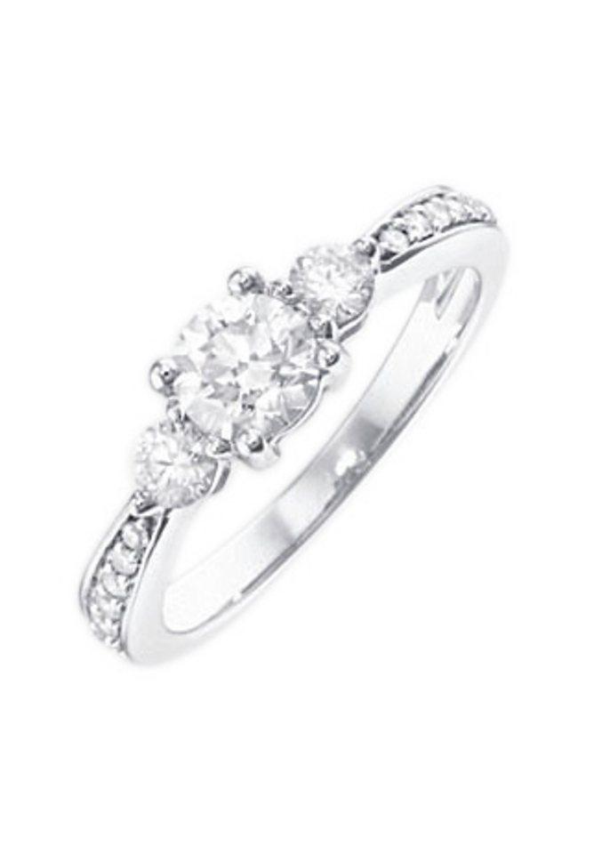 firetti Ring: Verlobungsring / Vorsteckring, Weißgold - Preisvergleich