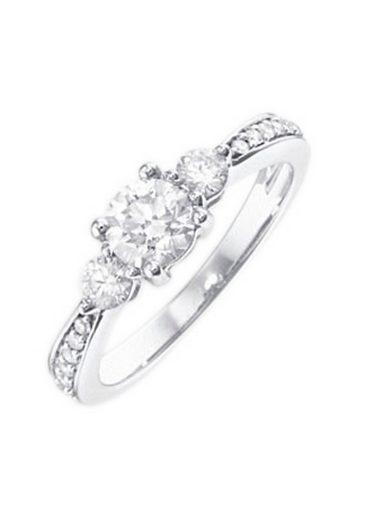 Firetti Verlobungsring »Vorsteckring, Weißgold«, mit Diamanten 0,25 ct.