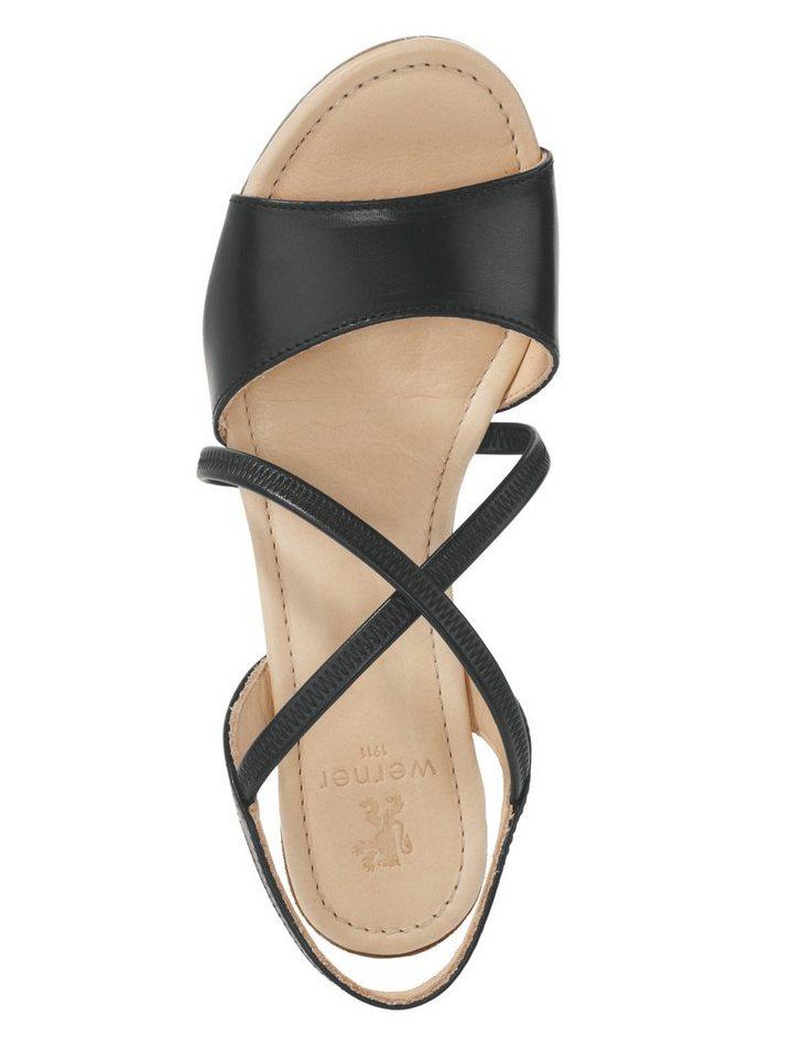 Sandalette von WERNER in schwarz