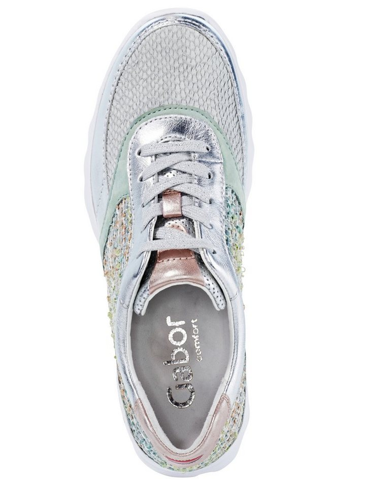 Sneaker von GABOR in grau/silberfarben