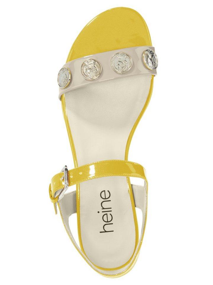 Sandalette in ecru/gelb