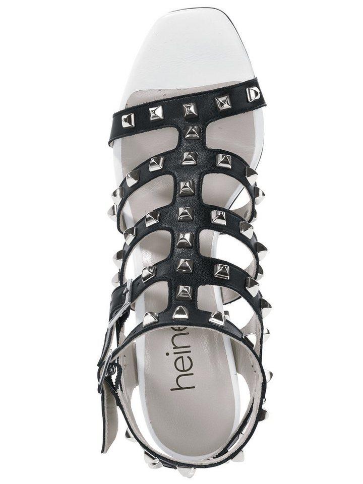 Sandalette in schwarz/weiß