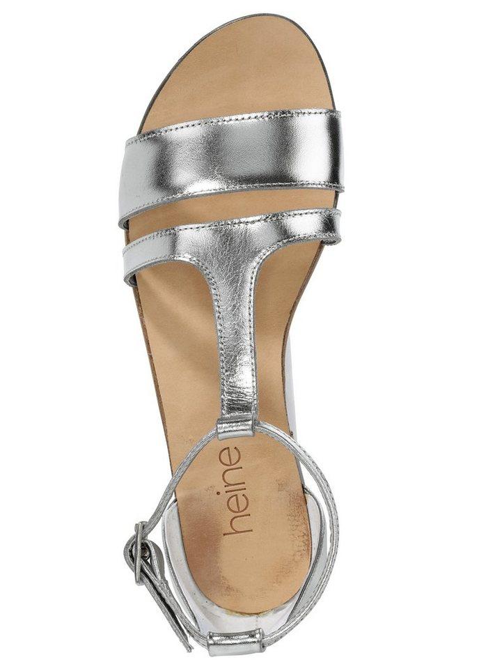 Sandalette in silberfarben