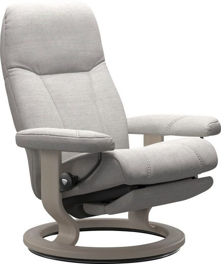 Stressless® Relaxsessel »Consul«, mit Classic Base und Power™, elektrisch verstellbar, optional 2-motorisch, Größe M & L, Gestell Whitewash