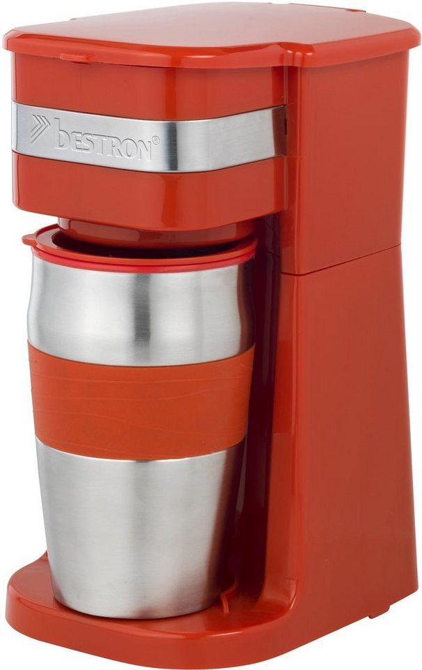 Bestron Kaffeemaschine ACM111R, rot in Rot