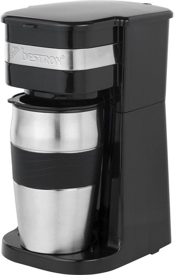Bestron Kaffeemaschine ACM111Z, schwarz in Schwarz