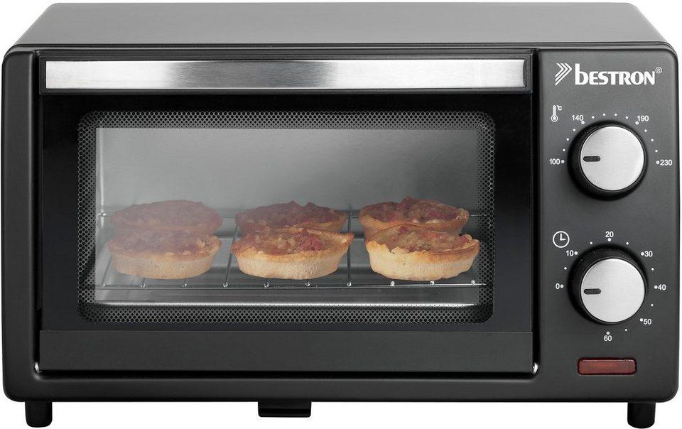 Bestron Mini Grill - Ofen AGL10, 800 Watt, schwarz in Schwarz