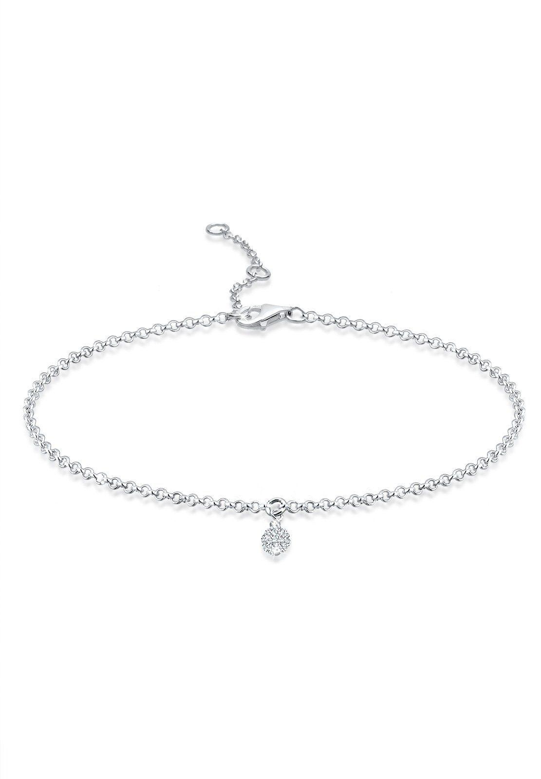 Elli Armband »Kugel Swarovski® Kristalle 925 Silber«
