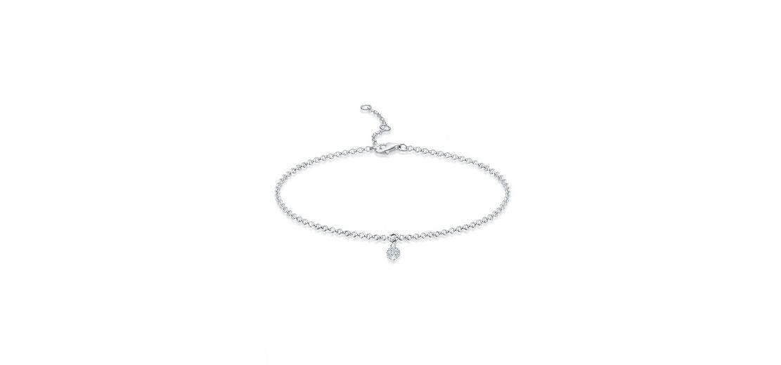 Elli Armband »Kugel Swarovski Kristalle Silber«