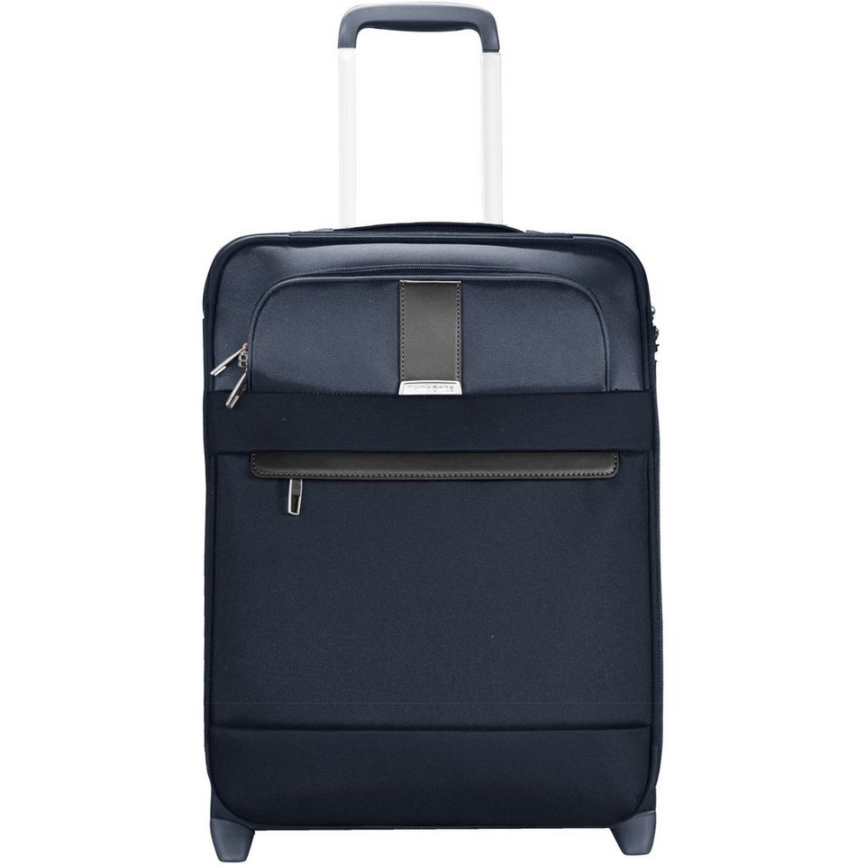 Samsonite Streamlife Upright 2-Rollen Kabinentrolley 55cm in blue dark brown