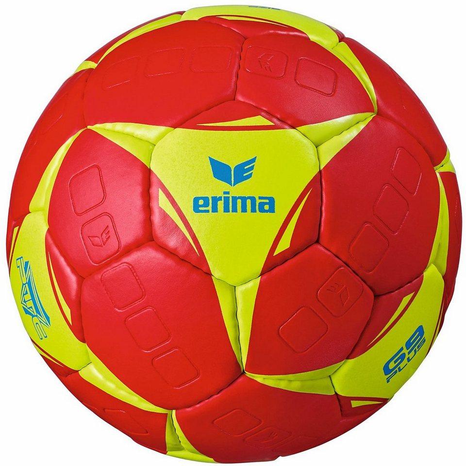 ERIMA G9 Plus Handball in rot/lime