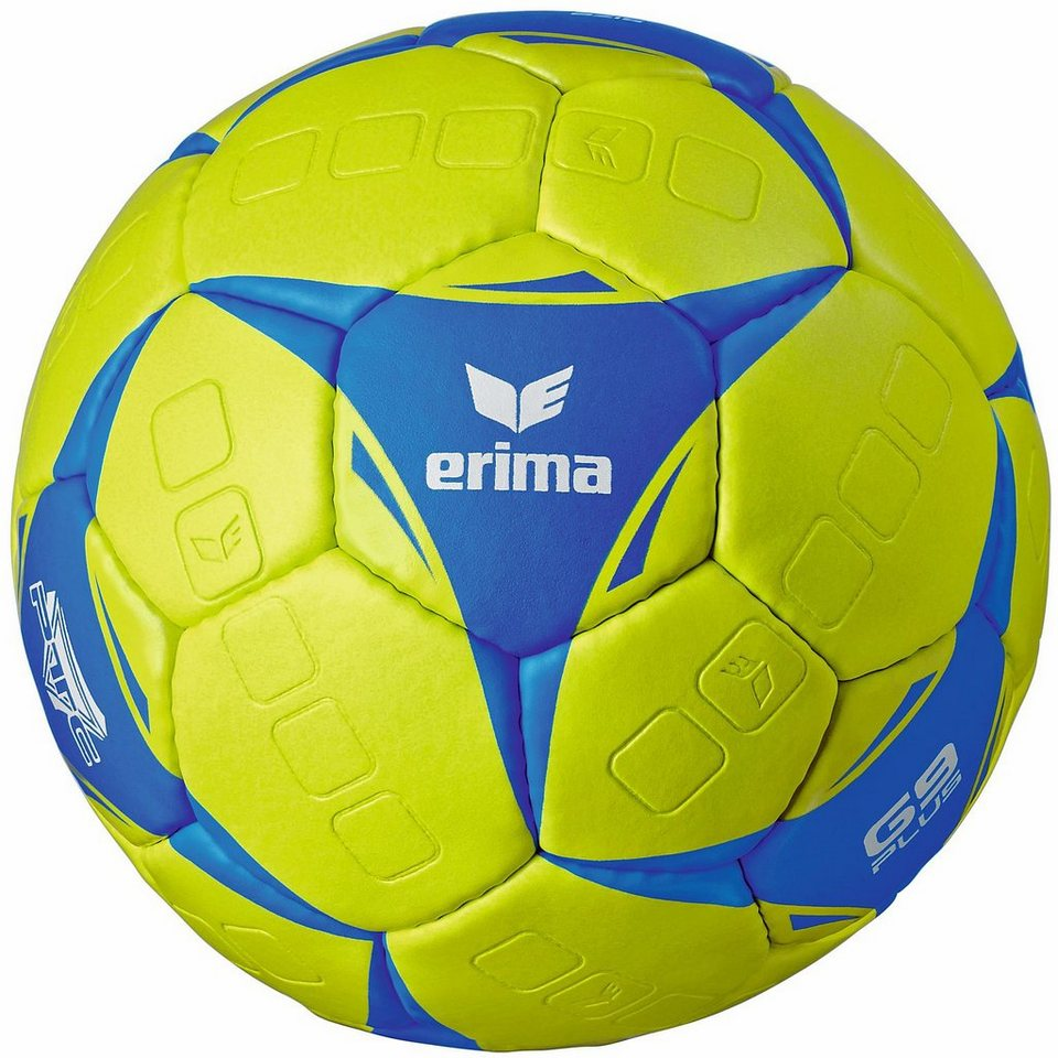ERIMA G9 Plus Handball in lime/blau