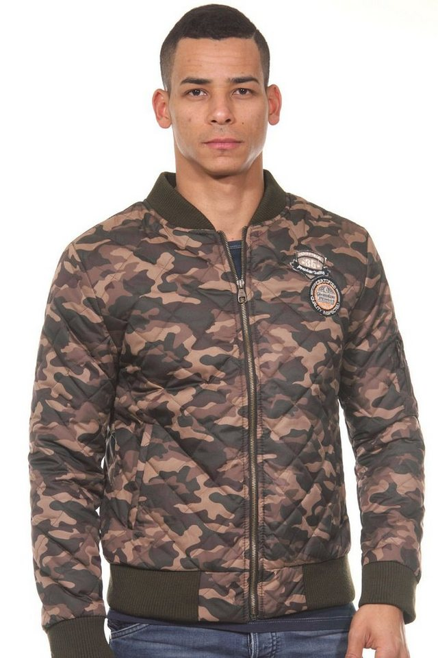 CATCH Steppjacke slim fit in camouflage