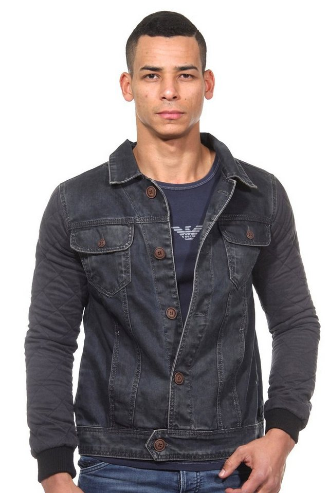 CATCH Jeansjacke slim fit in schwarz