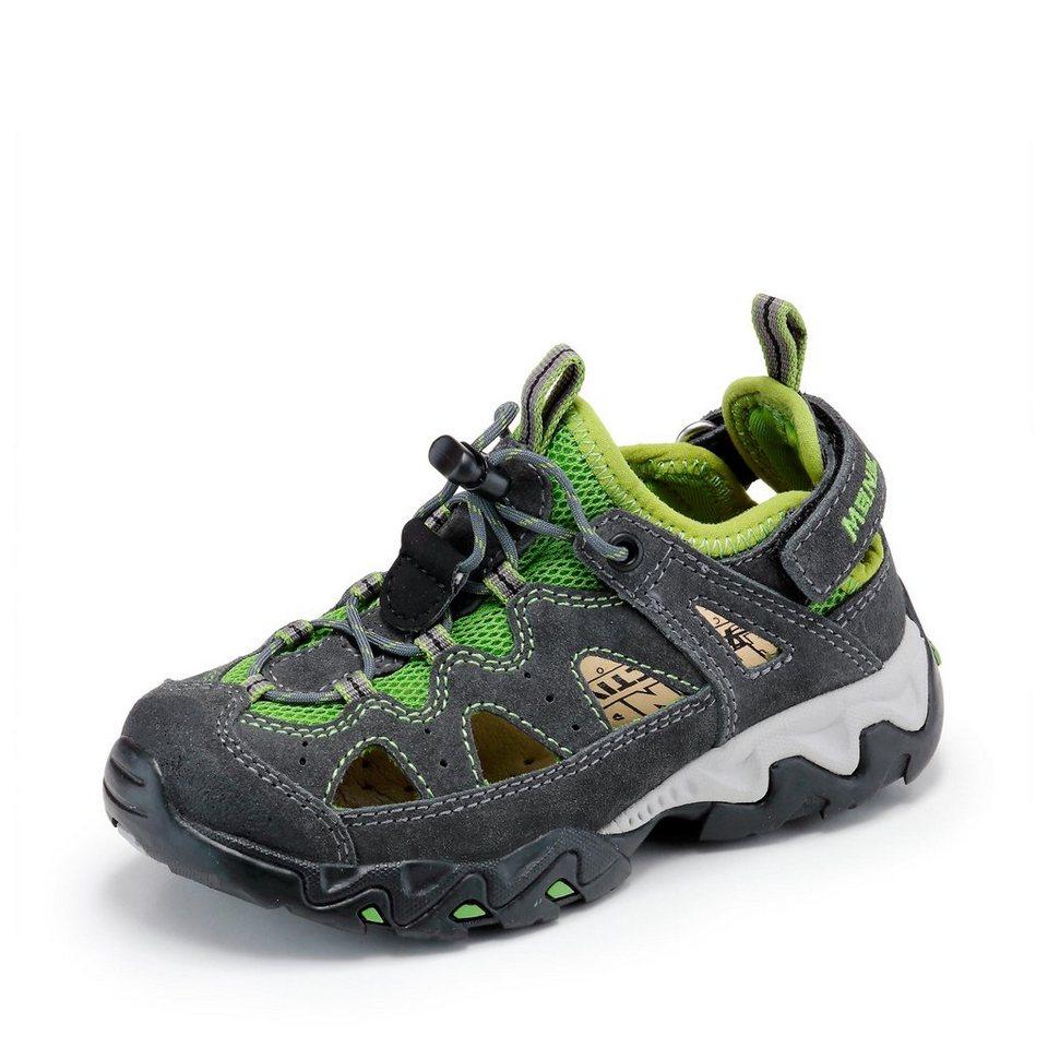 Meindl Sandale in anthrazit/grün