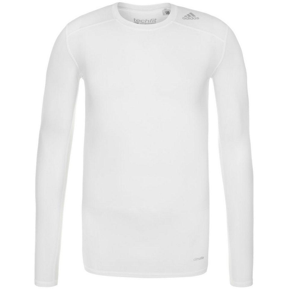 adidas Performance TechFit Base Trainingsshirt Herren in weiß