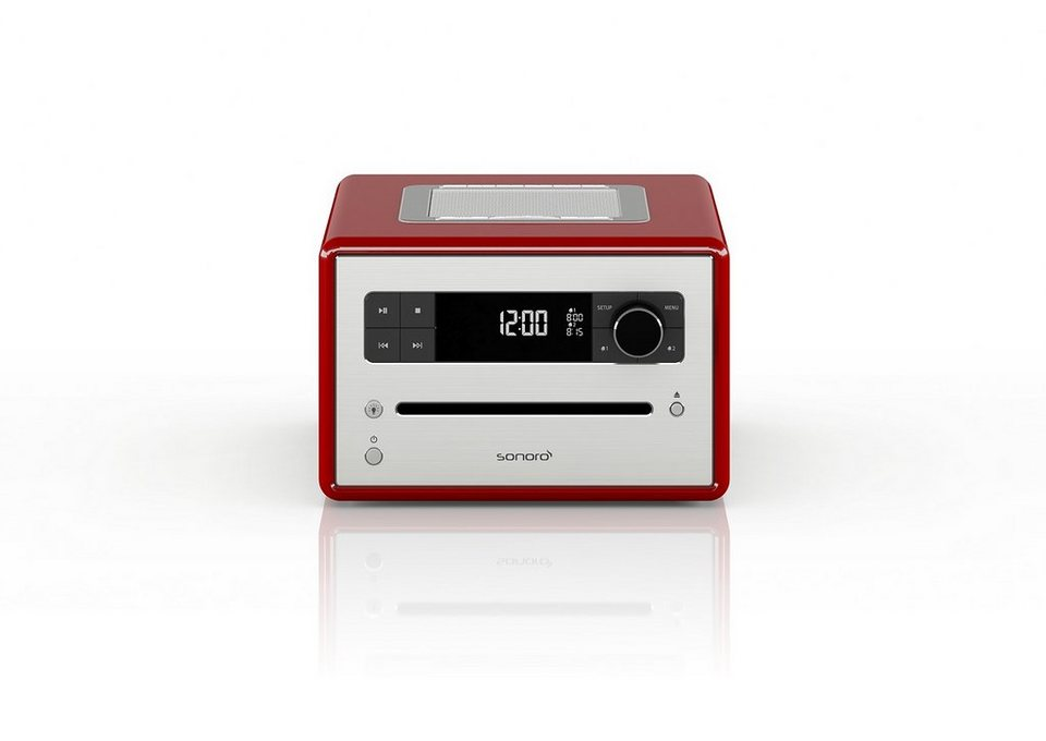 sonoro Digitalradio mit Bluetooth, CD-Player & MP3 Wiedergabe »sonoroCD 2« in rot