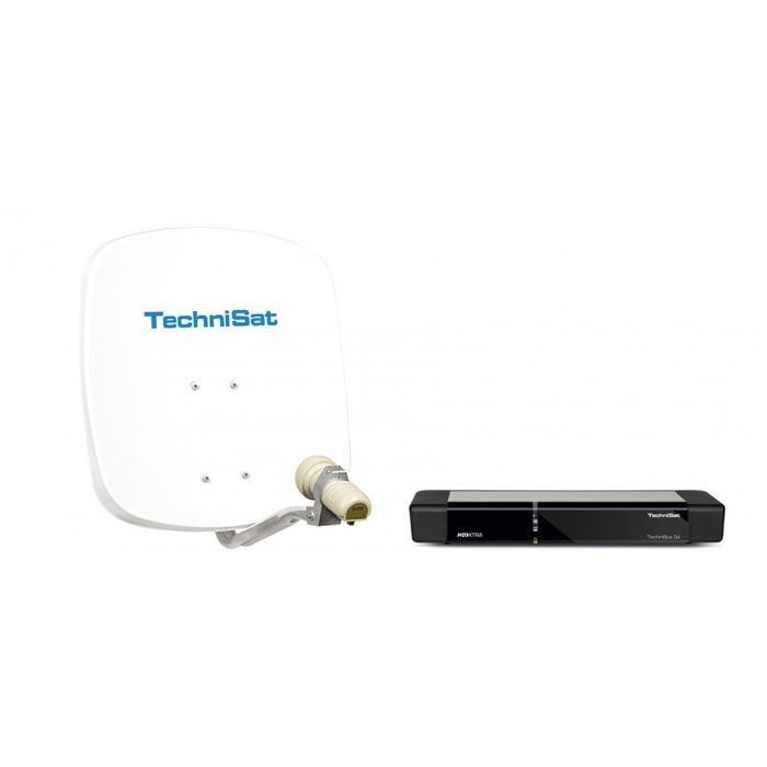TechniSat Ein-Teilnehmer-Komplettanlage »Ein-Teilnehmer-Set DigiDish 45 + TechniBox S4« in Weiß/Schwarz