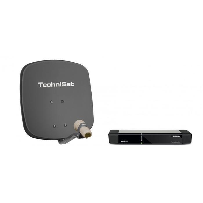 TechniSat Ein-Teilnehmer-Komplettanlage »Ein-Teilnehmer-Set DigiDish 45 + TechniBox S4« in Grau/Schwarz